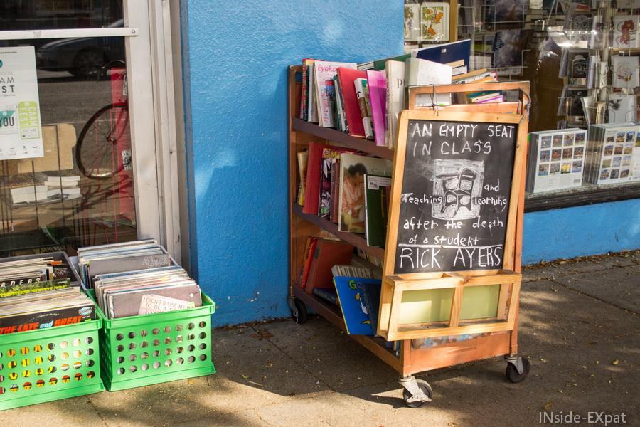 Devant Pegasus Bookshop