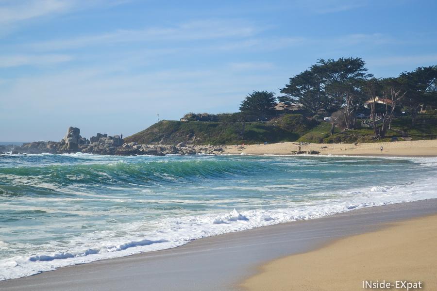 La plage de l'autre côté de la dune