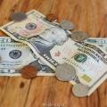 Billets et pi-ces en dollar americain