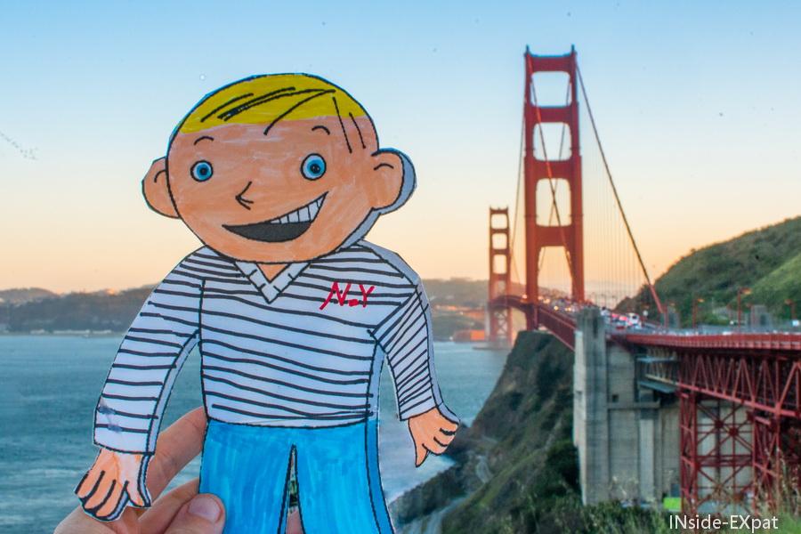 Flat Stanley et le pont de San Francisco