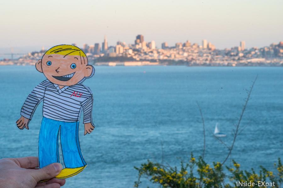 Flat Stanley et la skyline de San Francisco
