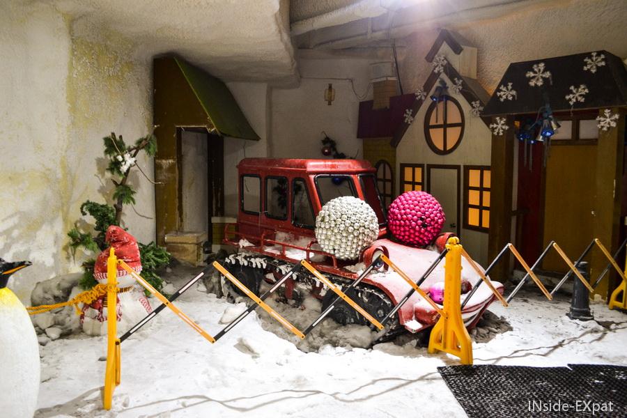 La déco du village d'hiver