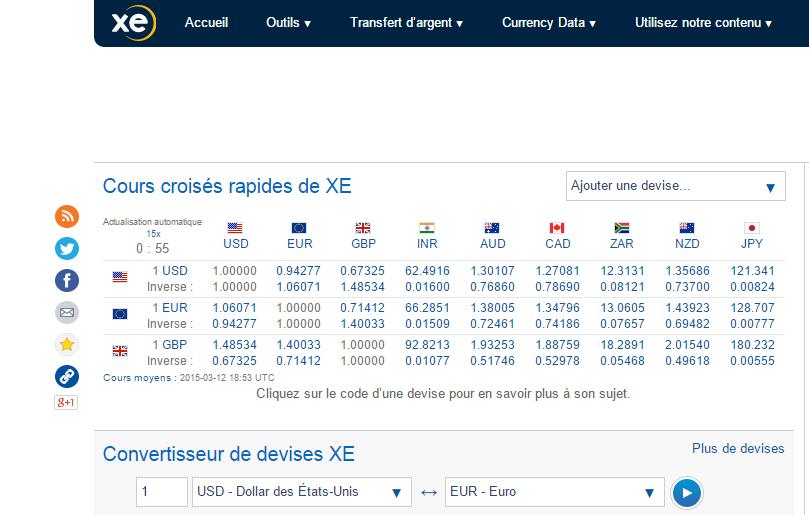 xe.com convertisseur de devises