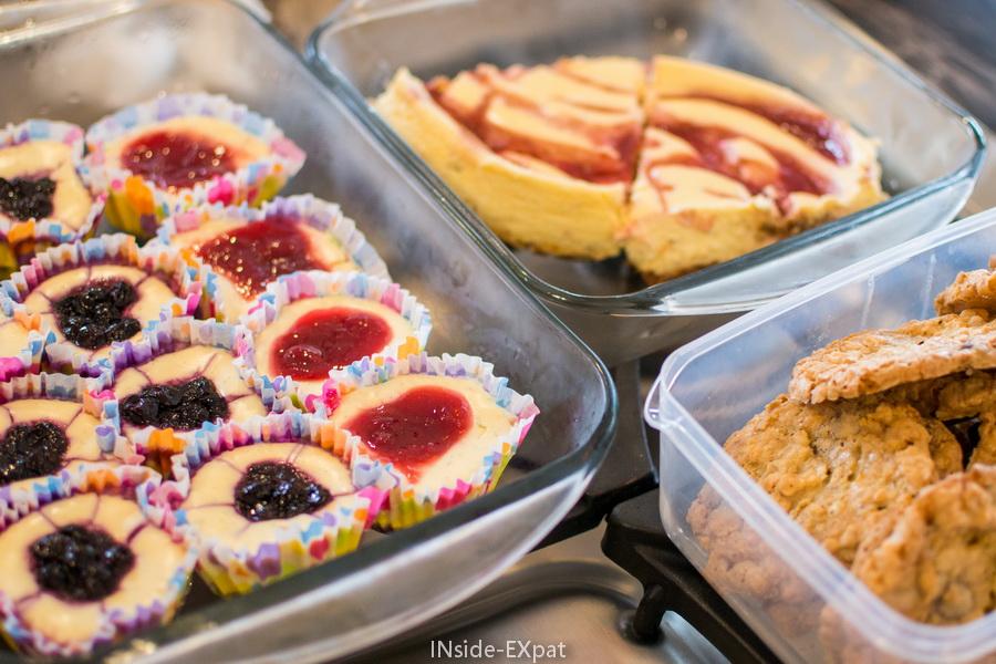 Les cheesecakes de Nensa et les cookies de Coralie