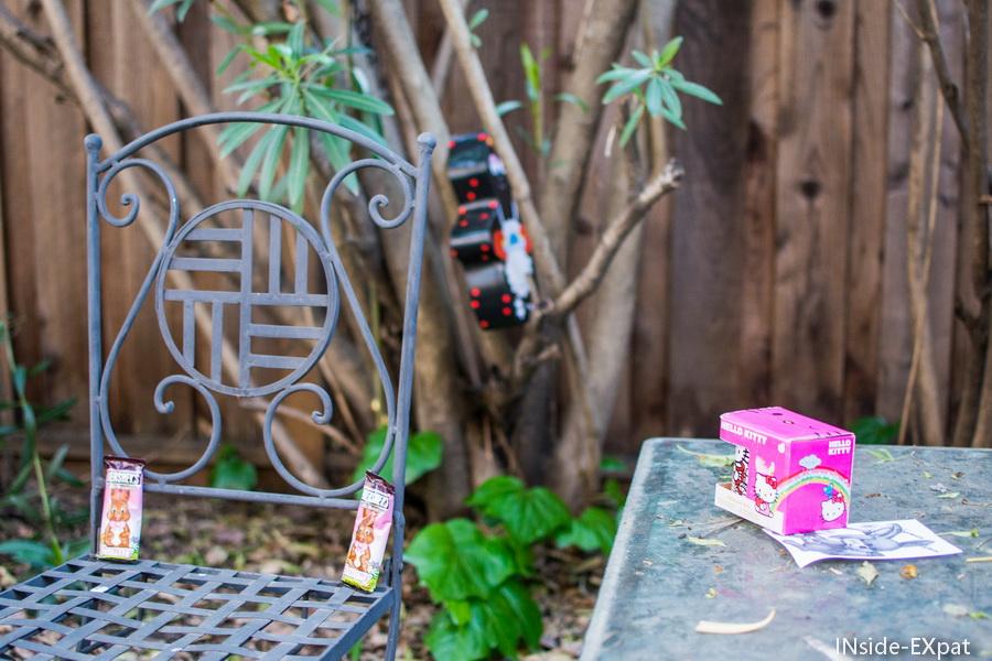 Notre jardin avec les chocolats cachés