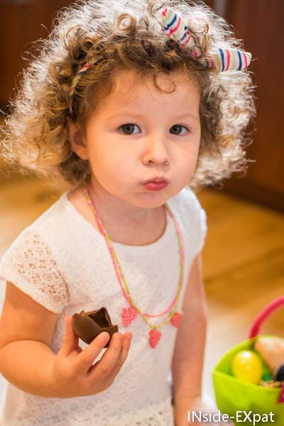 Mimi et son chocolat