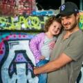 Street art et père-fille