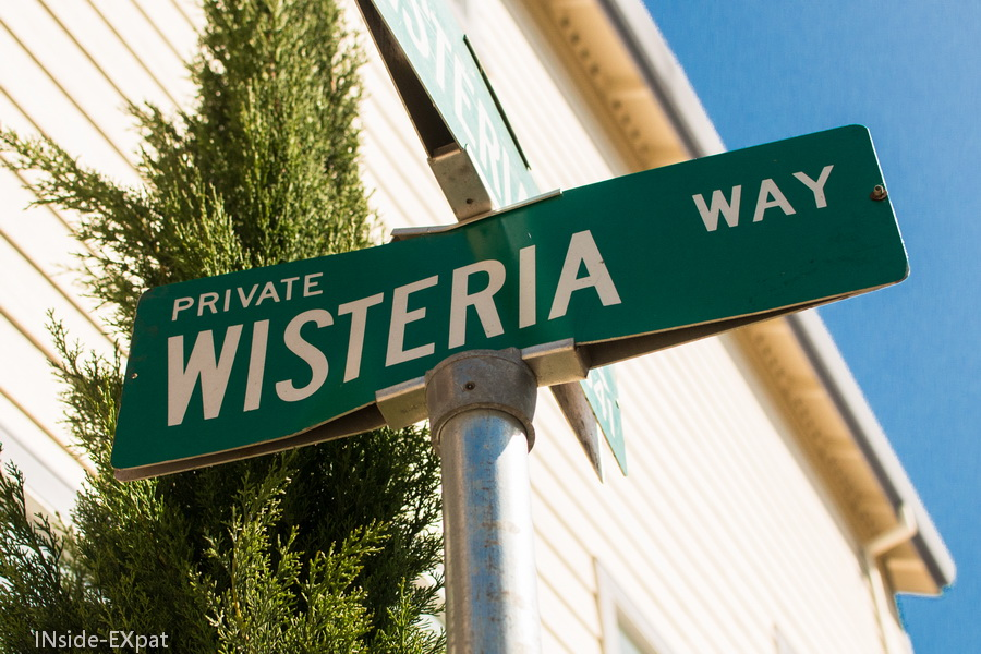 "Panneau ""Wisteria Way"""