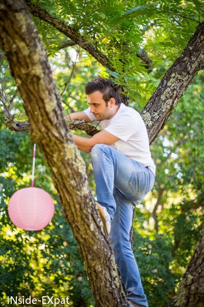 Nico dans les arbres