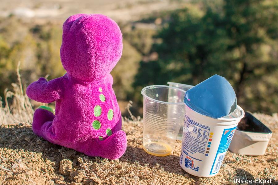 Petit déjeuner pour Barney le dinosaure