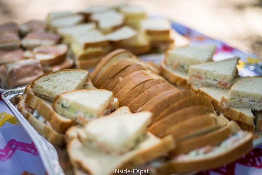 Les petits sandwichs au saumon fumé