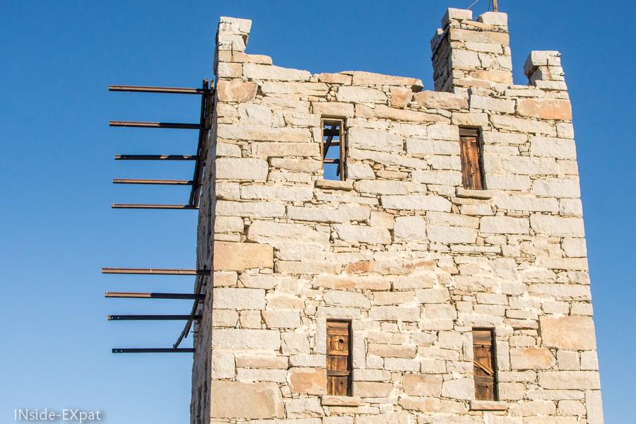 """Détail de la tour """"Stokes Castle"""""""