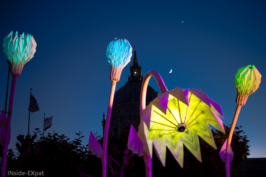 Les installations lumineuses du City Hall