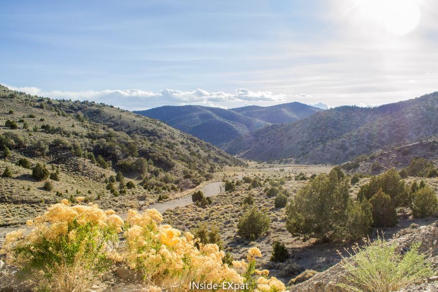 paysages traversés lors de notre roadtrip au Nevada