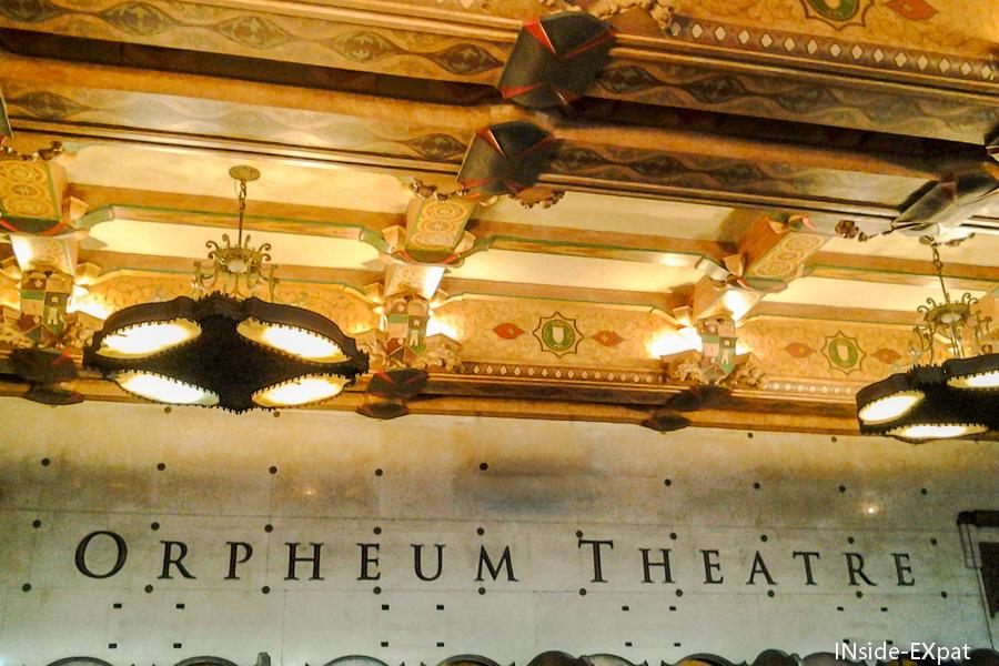 Entrée de l'Orpheum Theater SF