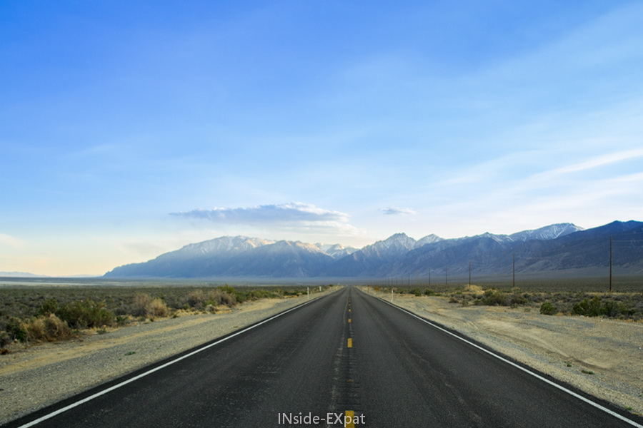 La route droit devant
