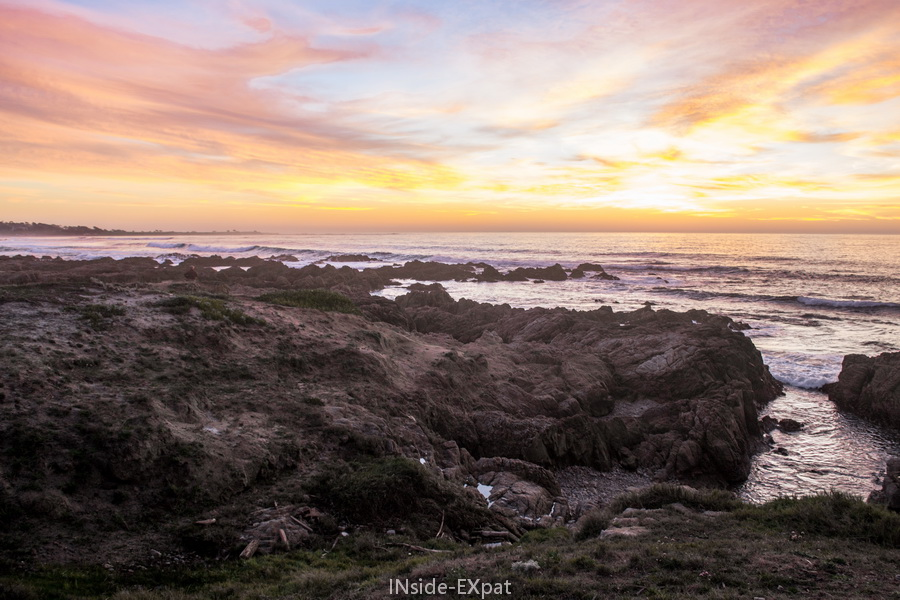 Le ciel irréel d'un coucher de soleil californien