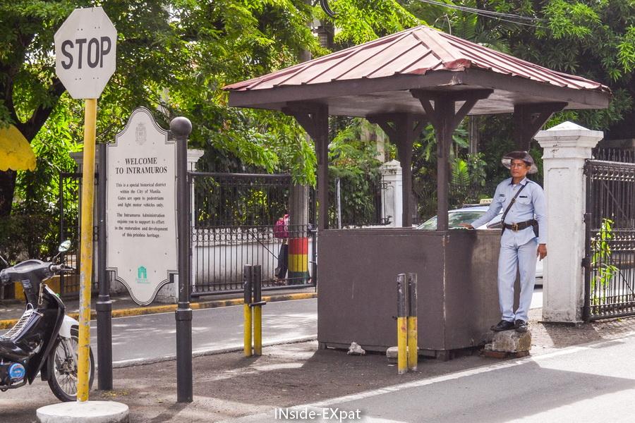 Le poste de garde à Intramuros