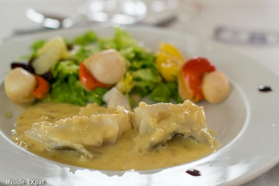 Entrée - Duo St Jacques/Poisson - restaurant Les 4 saisons (44)