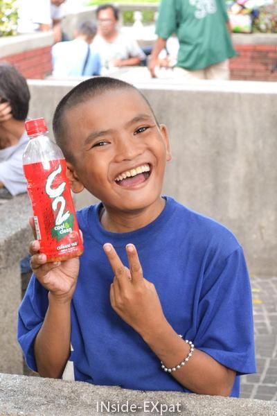 Enfant philippin au parc Rizal