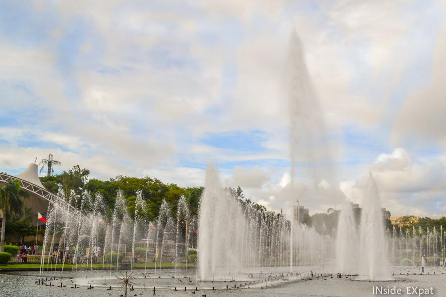 Le final du spectacle des fontaines