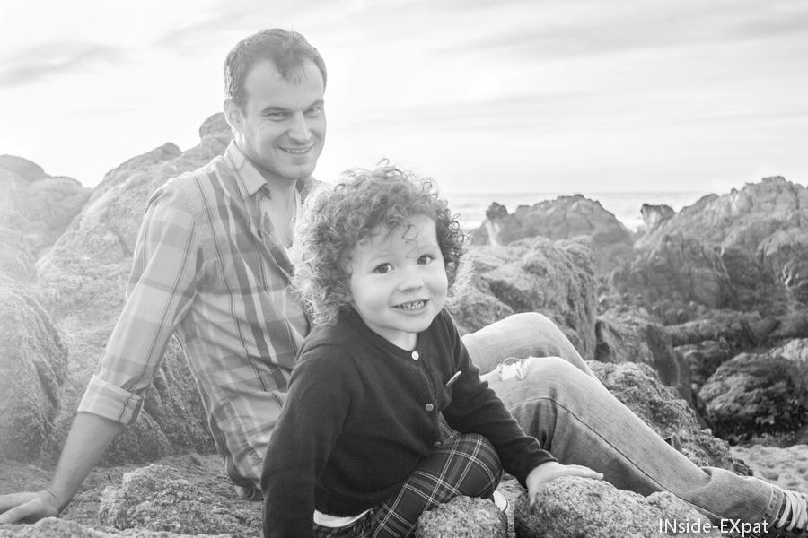 Daddy B. et Mimi B., ensemble sur la plage