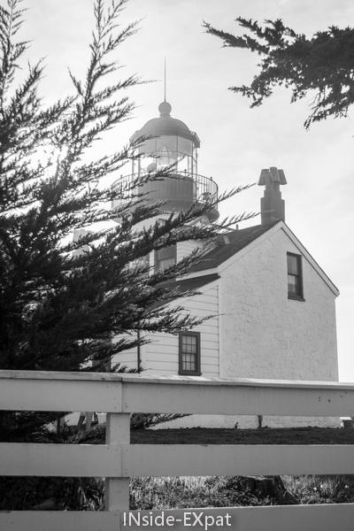 Point Pinos Lighthouse noir et blanc