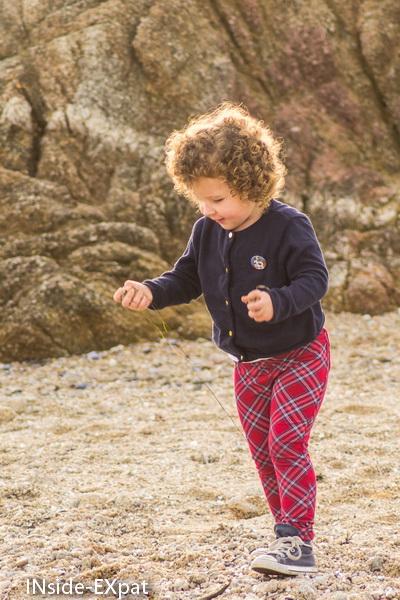 Mimi B. sur la plage