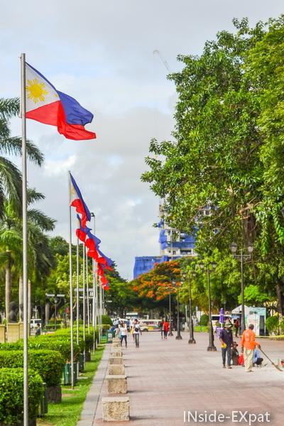 Drapeaux au Rizal Park