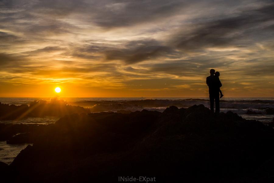 Daddy B. et Mimi B. regardant le coucher de soleil
