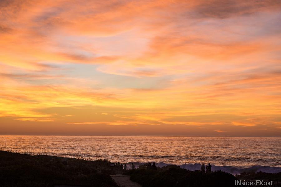 Ciel et mer au coucher du soleil