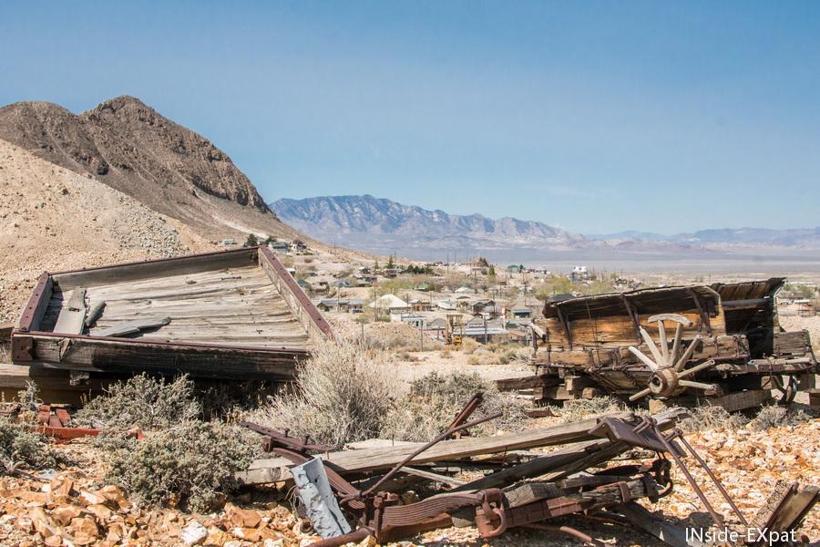 Vue sur la ville depuis les hauteurs de la mine