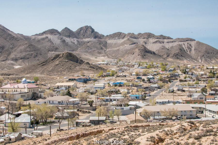 Vue sur la ville depuis la mine
