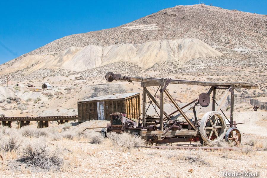 Les vestiges d'une mine abandonnée