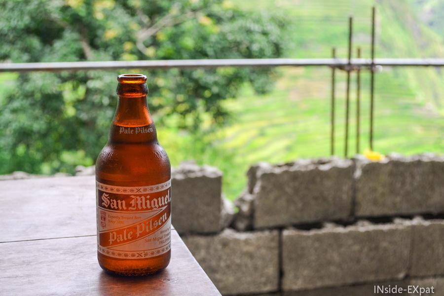Petite bière face aux rizières