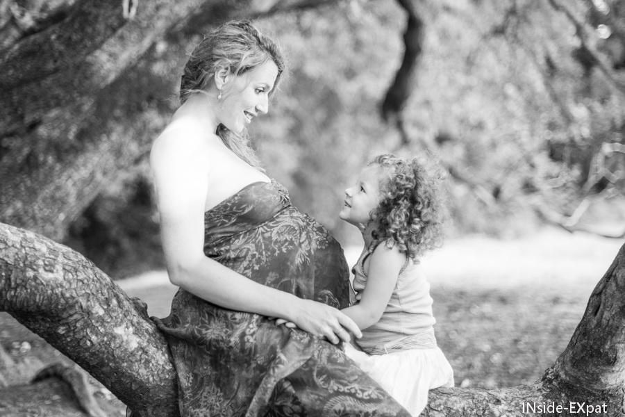 Mummy B. enceinte et Mimi B.