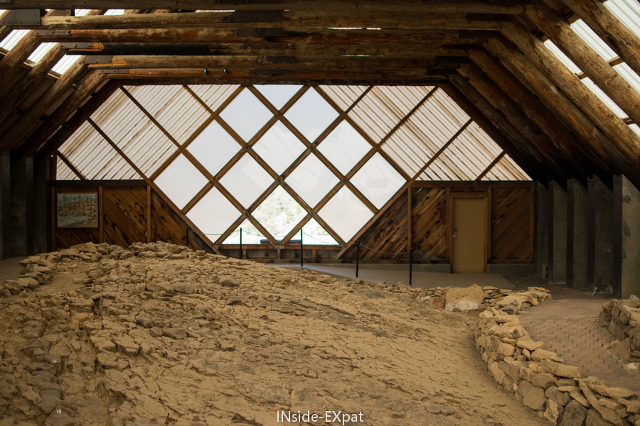 vue sur le fossil shelter depuis l exterieur