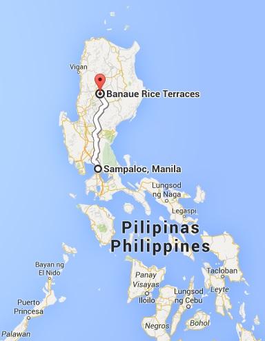 Trajet de nuit Manille-Banaue