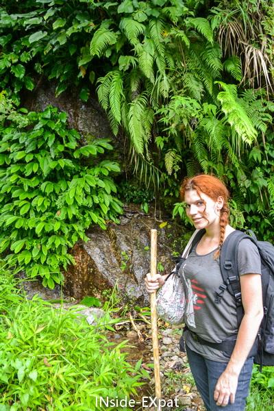 Mummy B. sur la route de Batad