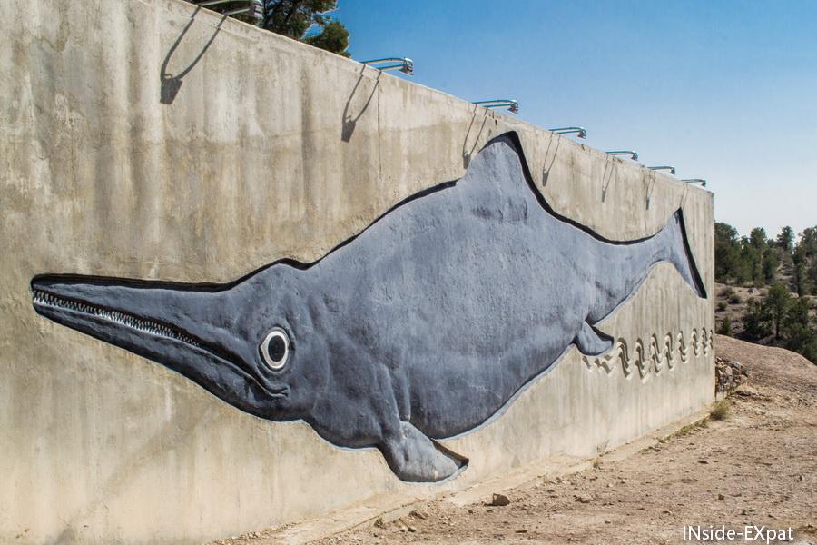 peinture d'un ichtyosaure