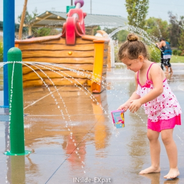 Meadow Homes Spray Park, having fun at waterplay! (Concord, CA)