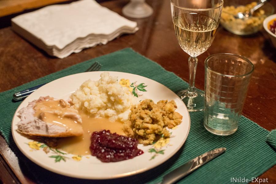 notre assiette de thanksgiving