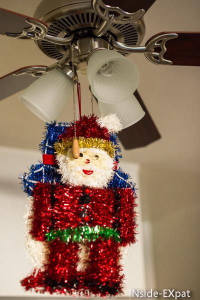 Santa accroché au ventilo
