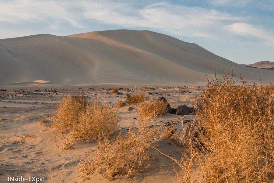 dune dans le desert du Nevada