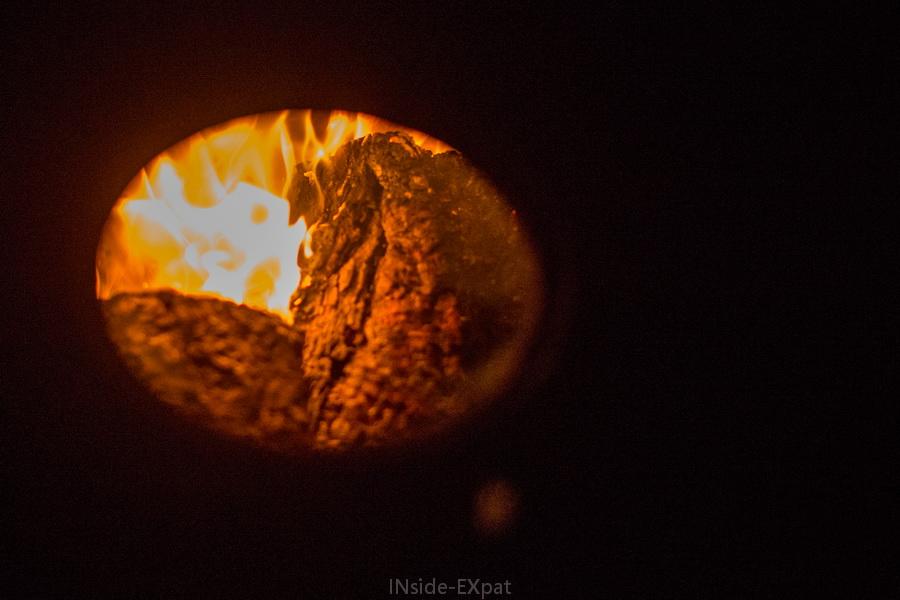 A l intérieur du poele