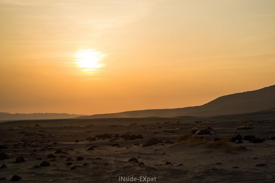 coucher de soleil sur la dune
