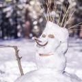 Punk snowman