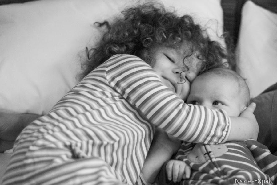 Mimi et Lenny au réveil
