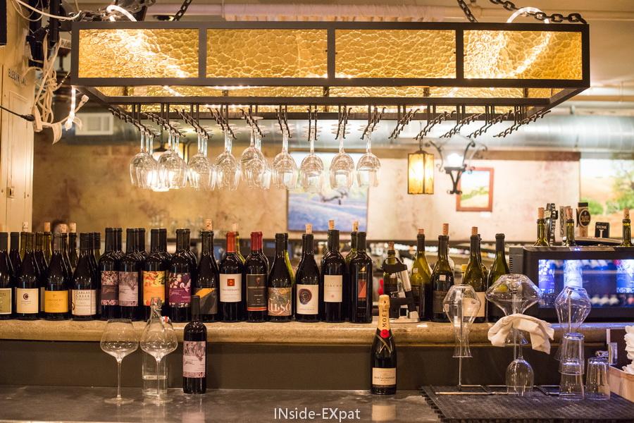 Bar et bouteilles
