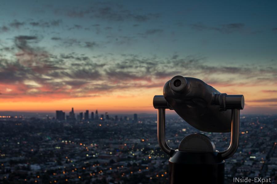 La skyline au lever du soleil